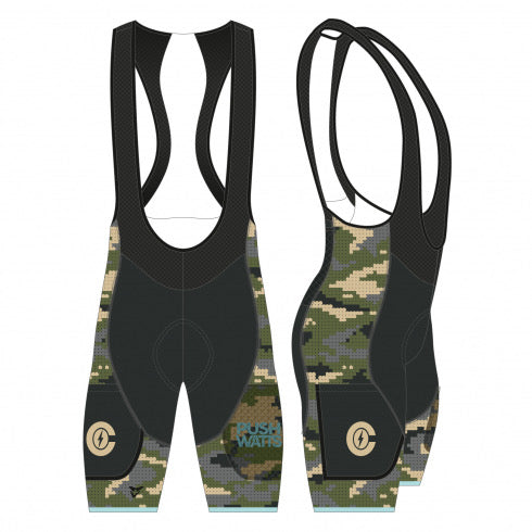 Caffeine & Watts Women's Utility Cycling Bib Short (Camo)