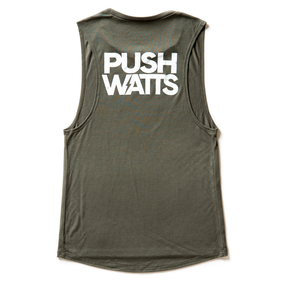 Caffeine and Watts Ladies Icon Muscle Tank