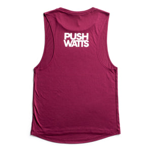 Ladies Caffeine and Watts Icon Muscle Tank