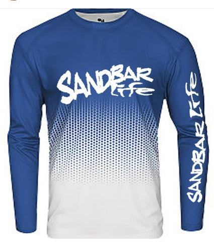 Sandbar Life Cool Long Sleeve Ocean Blue