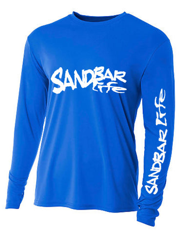 Sandbar Life Cooling Long Sleeve Man Ocean Blue