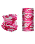 Silk Camo Pink Uv Face Neck  Gaiter