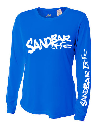 Sandbar Life Cooling Long Sleeve Lady's Blue