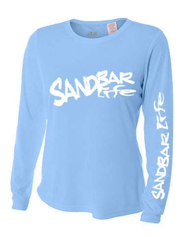 Sandbar Life Cooling Long Sleeve Lady's Light Blue