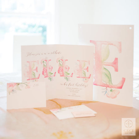Elle's Sweet 1st Birthday Party With Pink Watercolor Florals