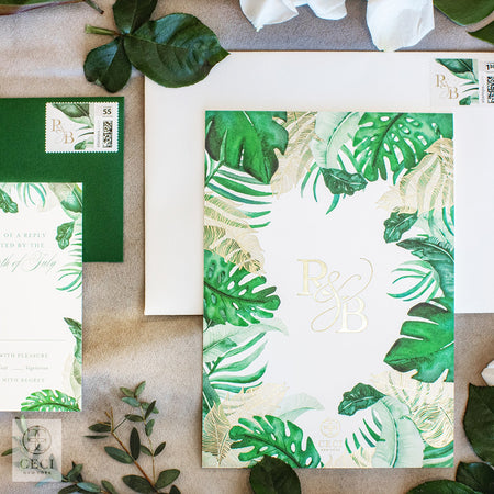 Rachel Lindsey Wedding Invitation