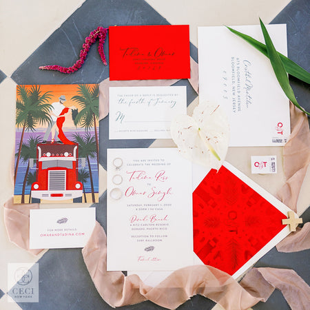A Tropical Retro Wedding Invitation With Hidden Meaning and Latin Flair