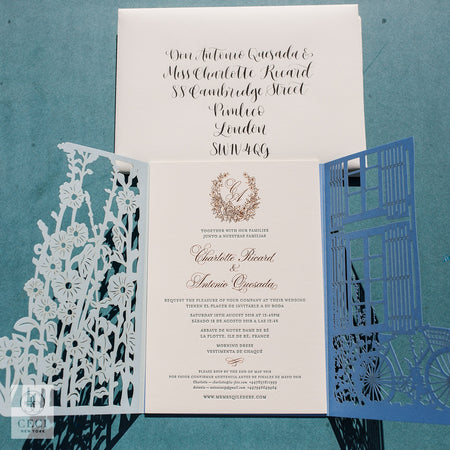 An Enchanting Secret Garden Inspired Invitation With Multi Layered Laser Cut Scenery