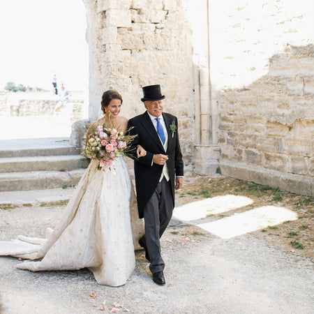 A Charmingly Intimate Secret Garden Wedding Off The Coast of France