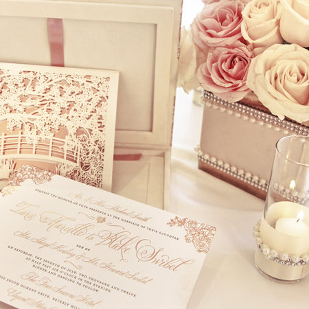 These Regal Box Wedding Invitations Were Actually Mini Music Boxes
