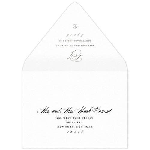 Monogram Save the Date Envelope
