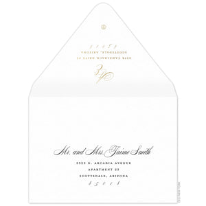 Monogram Invitation Envelope