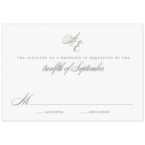 Monogram Reply Card