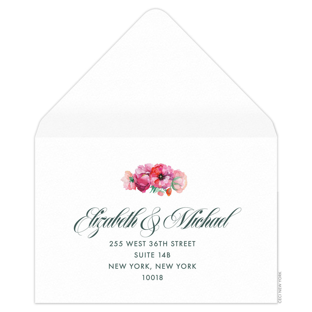 Bouquet Reply Card Envelope