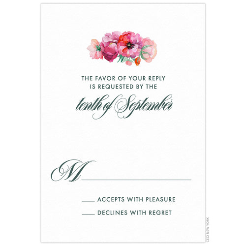 Bouquet Reply Card