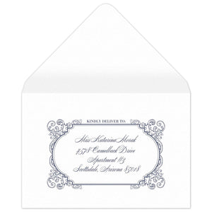 Fanciful Reply Card Envelope