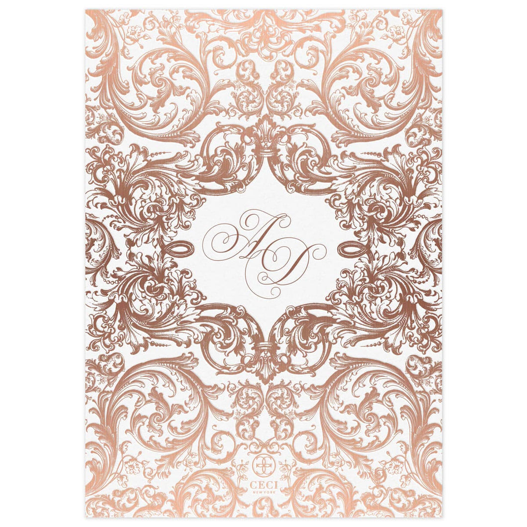 Monogram Invitation Back