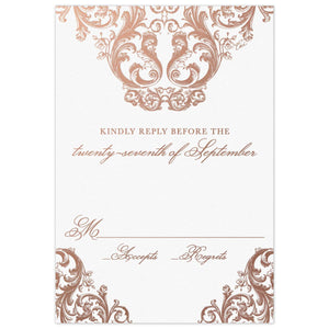 Opulence Reply Card