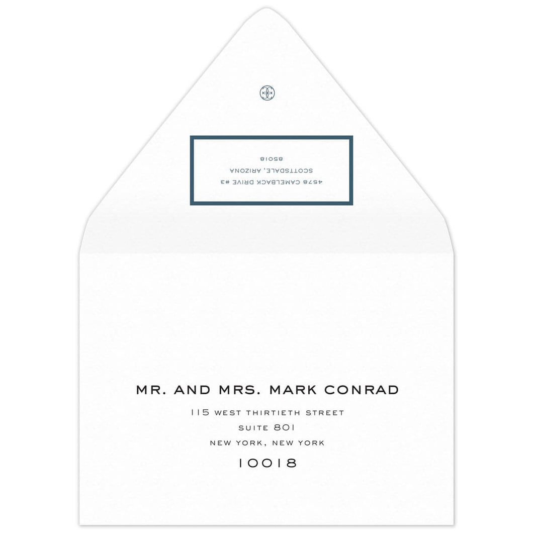 Border Save the Date Envelope