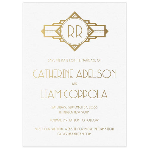 Geometric Monogram Save the Date