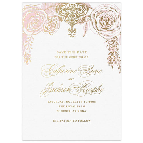 Opulent Rose Save the Date