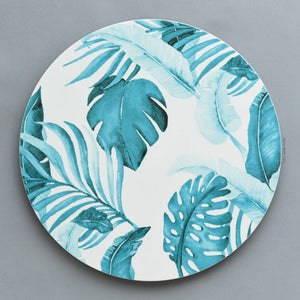 Turquoise Palm Court Charger Set