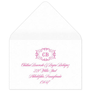 Monogram Reply Card Envelope