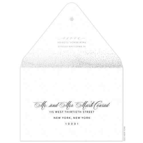 Night Sky Invitation Envelope