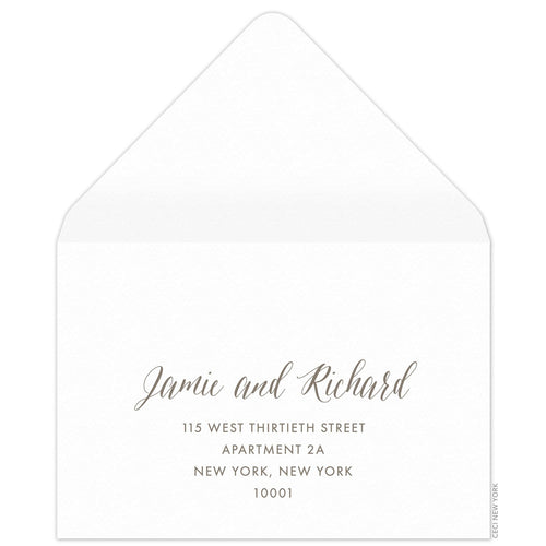 Script Reply Card Envelope