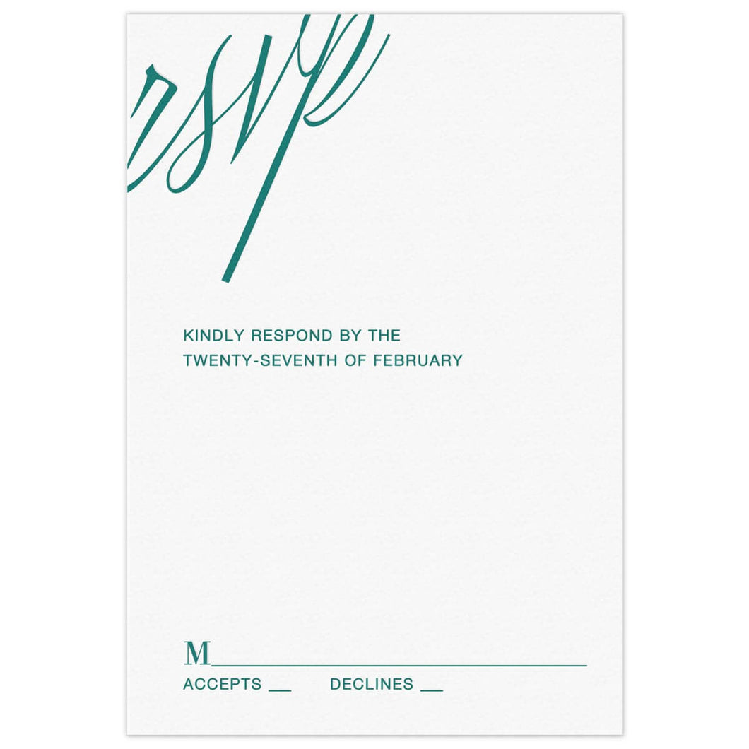 RSVP Reply Card