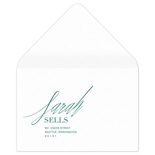 Pas de Deux Reply Card Envelope