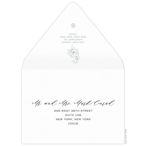 Petite Magnolia Save the Date Envelope