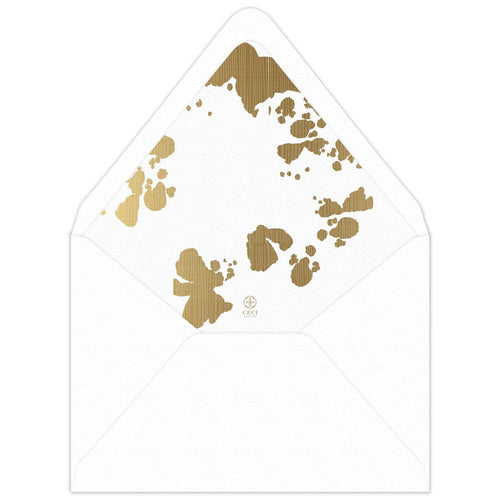 Labyrinth Invitation Envelope Liner