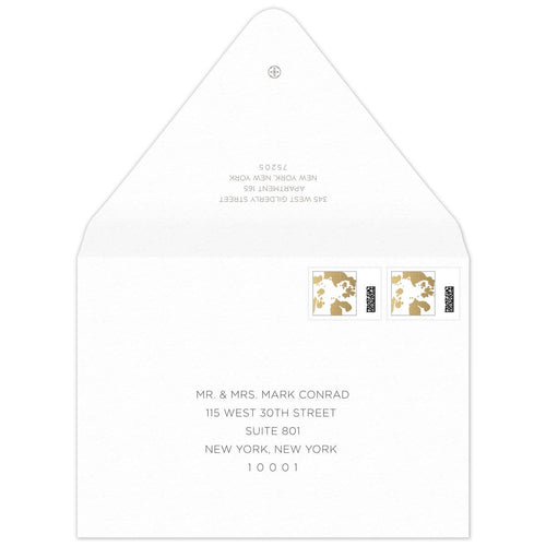 Silvered Invitation Envelope