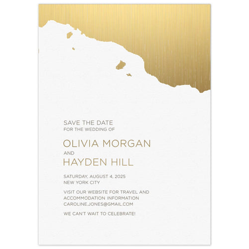 Silvered Save the Date