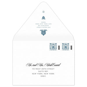 Lotus Invitation Envelope