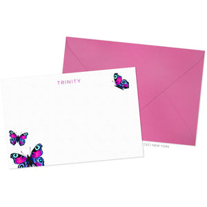Magenta Blue Butterfly