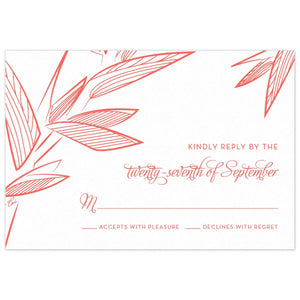 Palm Reply Card