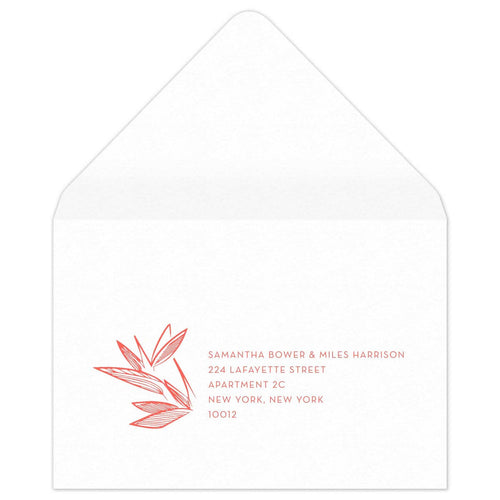 Palm Reply Card Envelope