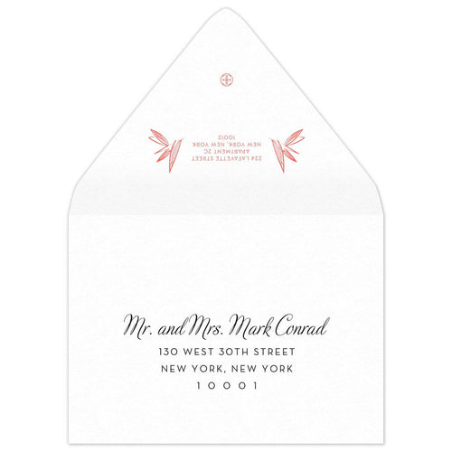 Palm Save the Date Envelope
