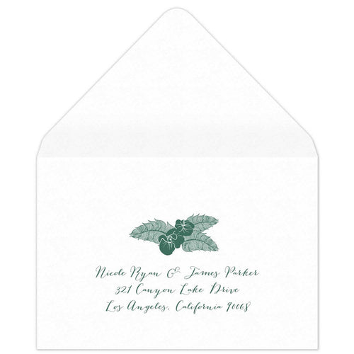 Blooms Reply Card Envelope