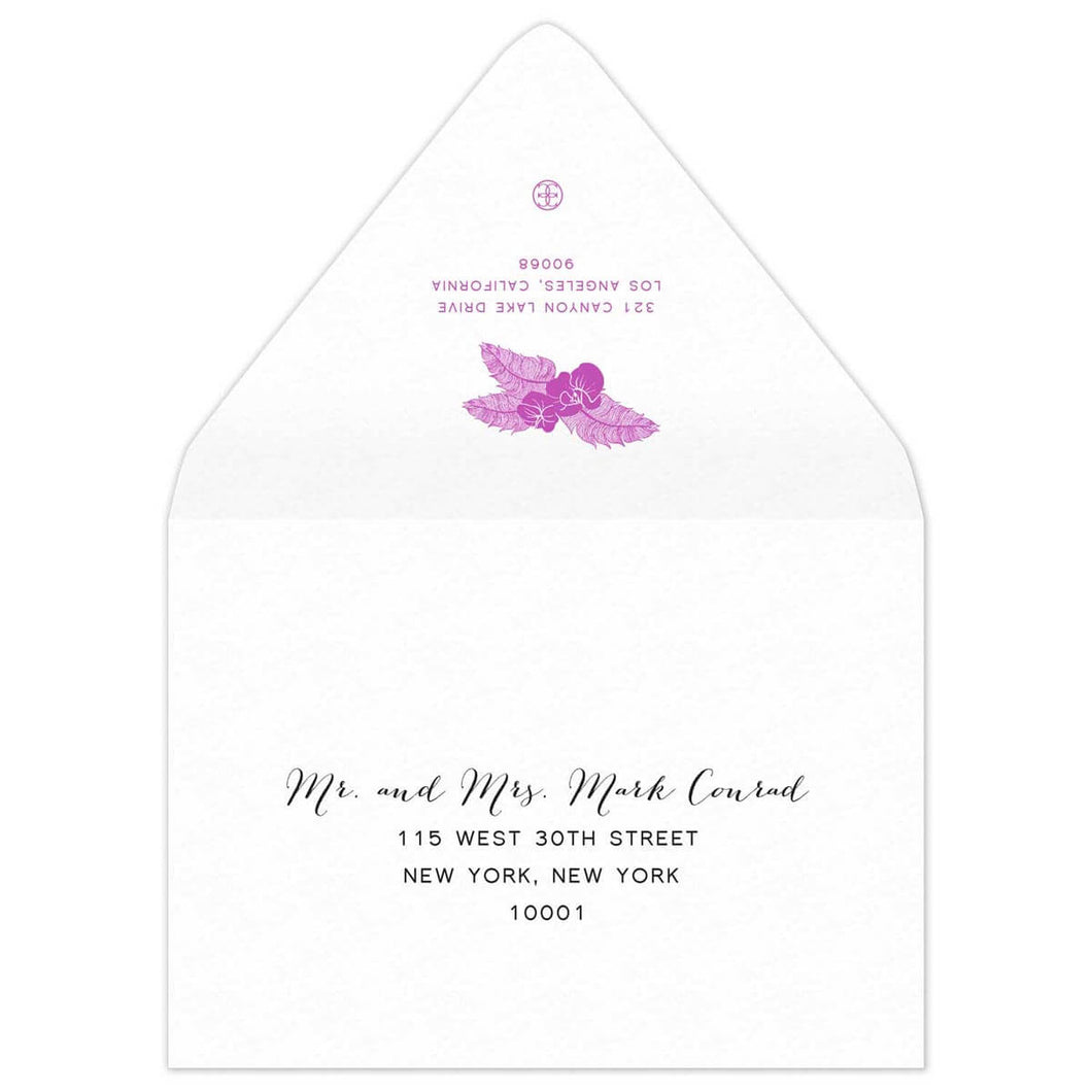 Blooms Save the Date Envelope