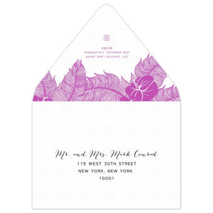 Draping Save the Date Envelope