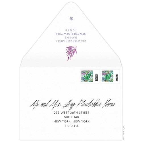 Palms Invitation Envelope