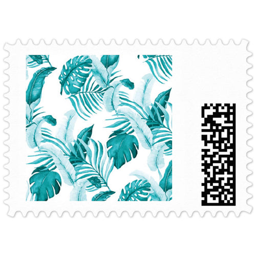 Turquoise Palm Stamp