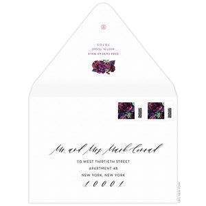 Bouquet Invitation Envelope