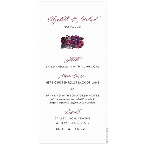 Bouquet Menu