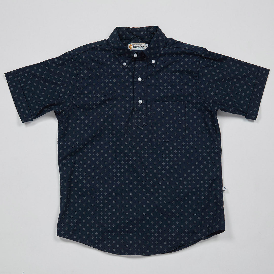 Pull Over Button-down Shirt I (Navy)