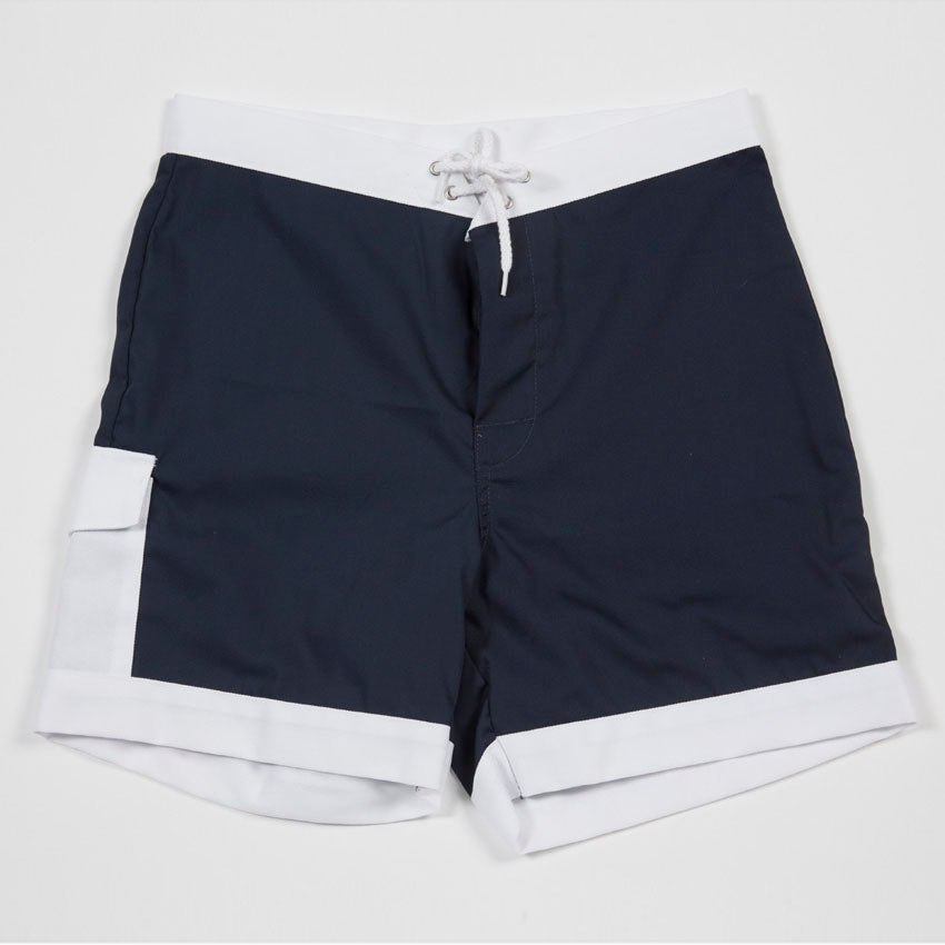 Hawaiian Holiday Trunks (Navy)