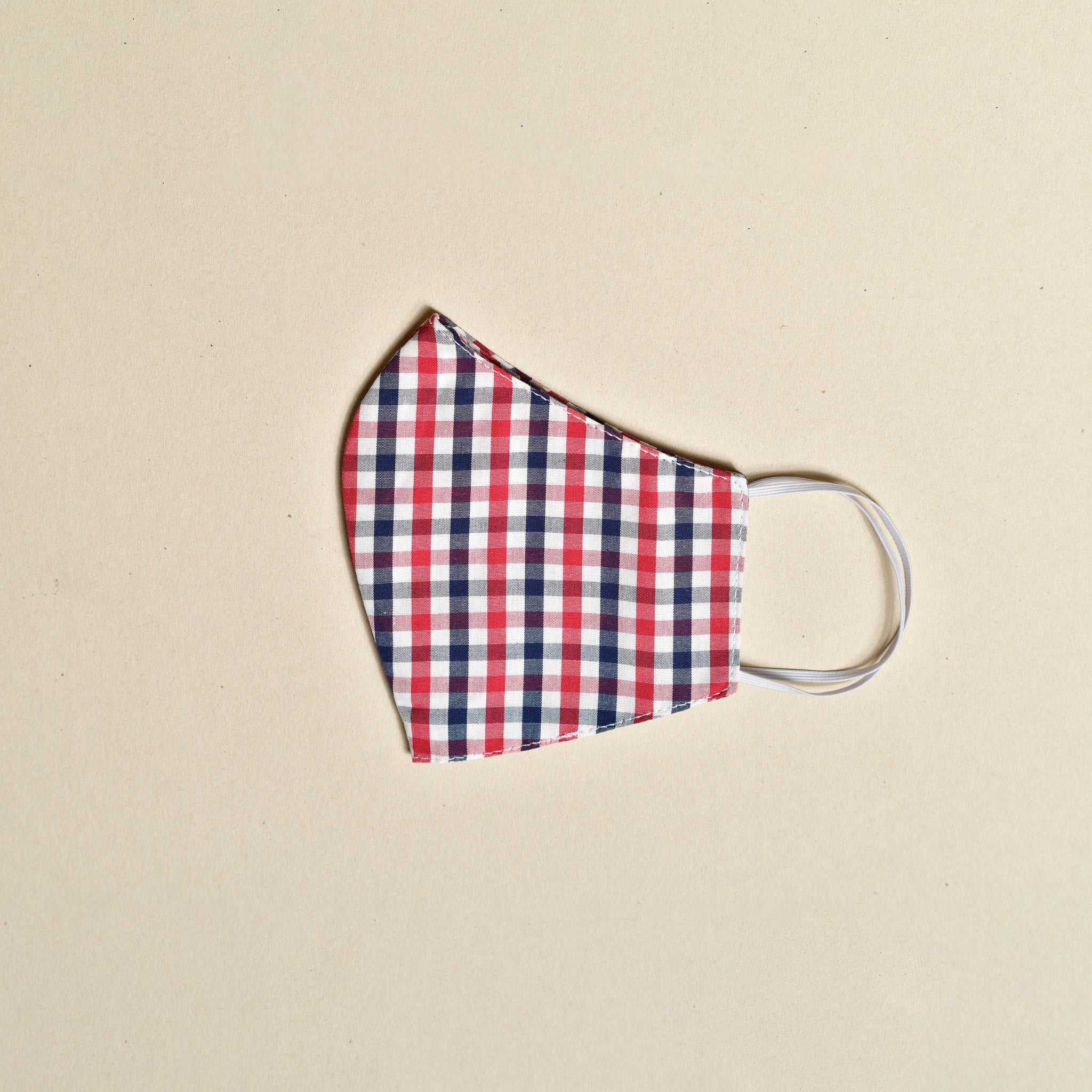 Cloth Face Mask (Navy x Red)